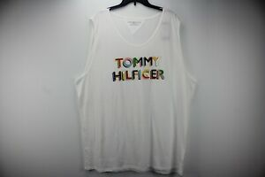Tommy Hilfiger Sz 3XL White Pride Tank Top w/Tommy Hilfiger in Rainbow Colors