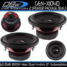 "2 Ds18 Gen-X104D 10"" Subwoofers 1600W Max Dual 4 Ohm 10 inch Car Bass Sub Woofer"