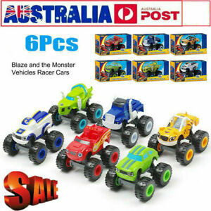 6 Pcs Blaze and the Monster Machines Vehicles Toy Racer Cars Trucks Kid
