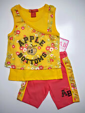 Apple Bottom Girl's Outfit Shirt & Shorts Set Size 18 Months