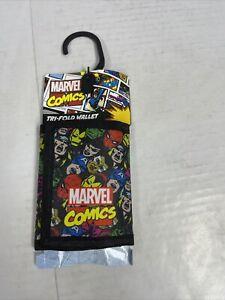 Marvel Avengers Tri Fold Canvas Wallet, New