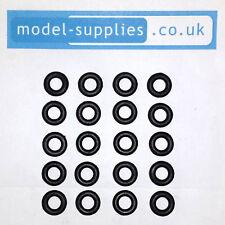Matchbox 12mm Reproduction Hard Black Plastic Tyres fits 18, 39, 40, 50 etc