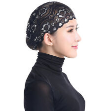 Women Hijab Hat Lace Ninja Underscarf Head Islamic Cover Bonnet Cap Scarf Muslim