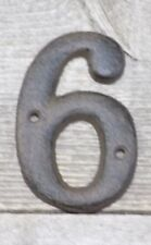 Rustic BROWN Cast Iron Metal House Numbers Street Address # Phone Number 6 SIX