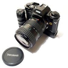 Pentax Super A 35mm SLR + Pentax Zoom + Motor Drive - Near Mint - New Seals.