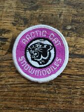 "Vtg Arctic Cat Embroidered Sew On Patch 2"" Badge Snowmobiles Sled Skidoo USA"