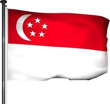 Fahne Singapur - Hissfahne 150 x 100cm Premium Qualität