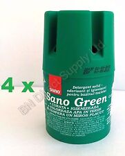 4 SANO GREEN WATER TOILET BOWL CLEANER Hygienic Long-lasting soap WC tank TABLET