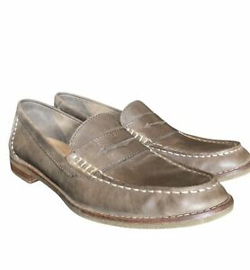 SPERRY Top-Sider Womens Penny Loafer Leather Flat Tan light Brown Seaport size 9