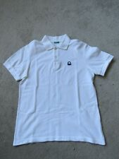 Boy's Benetton Polo Shirt in White - 170cm - Age 13-14 - Freshly laundered