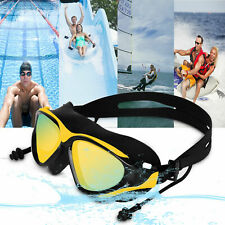 Adults Men Women Clear Mirror Swimming Goggles Glasses UV Protection Anti-Fog