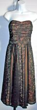 Nanette Lapore Black Lace Bandeau Evening Formal Dress Sz 10