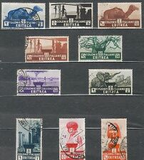 TMM* 1934 colonial Italy Eritrea stamp lot S158-67 used/hinge F/VF