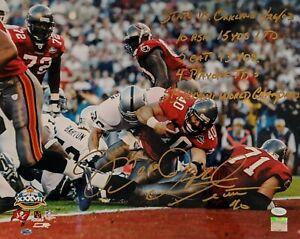 MIKE ALSTOTT Signed Autograph 16x20 Extensive Inscription Photo Buccaneers JSA