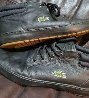 Lacoste Ortholite Amphill Terra Leather Black trainers shoes UK 7 EUR 40.5 US 8