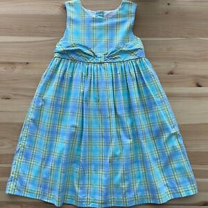 JANIE AND JACK Tropical Sea Plaid Dress Size 6