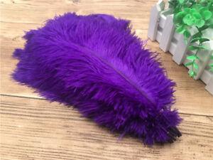 Wholesale 10-100 pcs natural ostrich feathers 6-16 inch/15-40cm 19 Colors