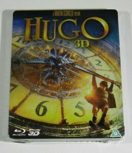 Hugo 3D/2D Blu-ray Steelbook UK Region B Locked English Audio