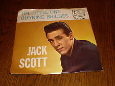 Jack Scott 45/PICTURE SLEEVE Oh Little One TOP RANK