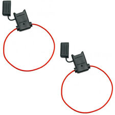 ATC/ATO Inline Red 18 Gauge Wire DC Power Supply Fuse Holder Pack of 2