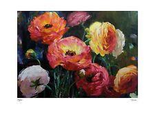 """Jennie Tomao """"Floral Arrangement""""  Original Serigraph (Silkscreen)"""