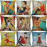 "18"" Printing abstract art Cotton Linen pillow case Home Decor Cushion Cover"