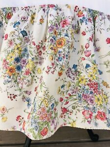 Vintage Wildflowers Floral Bed Skirt Cottage Boho Country Chic King Size 75x84