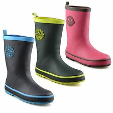 Boys Girls Kids Waterproof Wellies Winter Rain Snow Wellingtons Boots Shoes Size