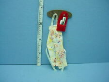 Dollhouse Miniature Wall Rack, wi Artist Apron & Tools Handcrafted, #914 - 1/12