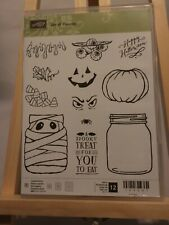 "Stampin' Up! ""Jar of Haunts"" Set of 12 Stamps"