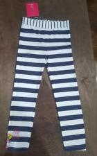 New Deux par Deux white and navy Striped Leggings Sz 12