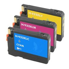 3 COLOR 932XL 933 XL Ink Cartridge for HP Officejet 6100 6700 6600 7100-New Chip