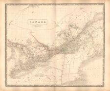 1844 LARGE ANTIQUE MAP- JOHNSTON - CANADA