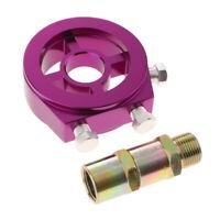 Purple Car AN10 Oil Filter Cooler Sandwich Plate Adapter 3/4*16 & M20*1.5