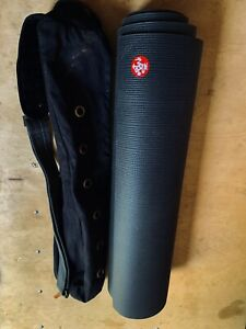 "Manduka Pro 6mm  85"" Yoga Mat with Journey On Carry Case Black MINT"