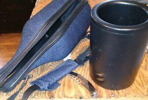 New Caddy-O Blue Canvas & Neoprene Wine Bottle Caddy w/Cooler & Bottle Opener