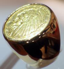 14K Y GOLD 1914 Quarter Eagle 2 - 1/2 $2.50 Dollar Coin Ring 18.117 Grams Size 9