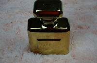 Parfum Bottle Coin Bank - Ceramic with Brass Metallic Finish