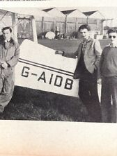 A3-7 Ephemera 1956 Picture Croydon Roger Bailey Reg Brown Colin Ford Flying Club