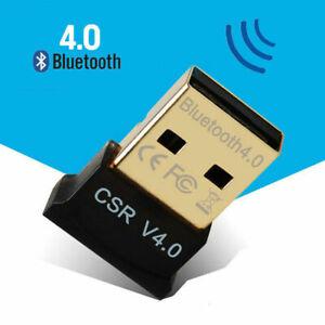 NEW USB Bluetooth V4.0 CSR Wireless Dongle Adapter For Windows 7/8/10 PC Laptop