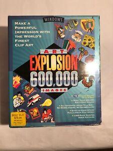 Art Explosion 600,000 Images Clip Art PC Windows 29 Discs Computer Software G2
