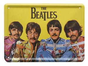 The Beatles SGT PEPPERS Metal Sign Steel Fridge Magnet (8cm x 11cm)