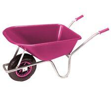 Gartenschubkarre Schiebekarre 100 l mit pinker Kunststoffmulde