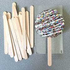 "4.5"" Wooden Popsicle Sticks, Wooden Ice Cream Sticks, Wooden Lollipop Sticks"