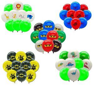 25.4X30.5cm Enfants Latex Ballons Anniversaire Fête Décoration Pochette Surprise