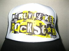 ROCKSTAR ENERGY TRUCKER HAT NWOT TRUCKER STYLE MESH BLACK YELLOW NEW