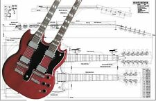 Gibson EDS® Double-Neck SG® Electric Guitar Full-Scale Plan