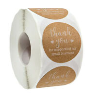 "500Pcs Round ""Thank you"" Paper Sticker Label Envelope Packaging Sealing Stickers"
