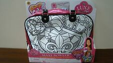 New Fashions You Color Charm N' Wear Maxi Bowler Craft Kit Coloring Bag w/marker