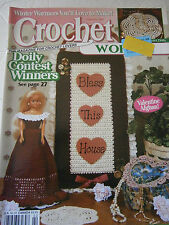 Crochet World February 1997 Magazine Pattern Barbie Doll Dress Valentine Afghan